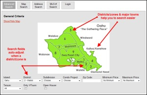 Clickable Map Search