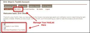 Manage HotList