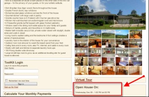 Open House callout on new Property Details page