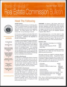 Real Estate Commission Bulletin