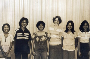 Michelle, second from right, in student government.