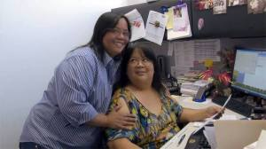 """Michelle and Faith at work, from the Hawaii Business """"Founders & Visionaries"""" video."""